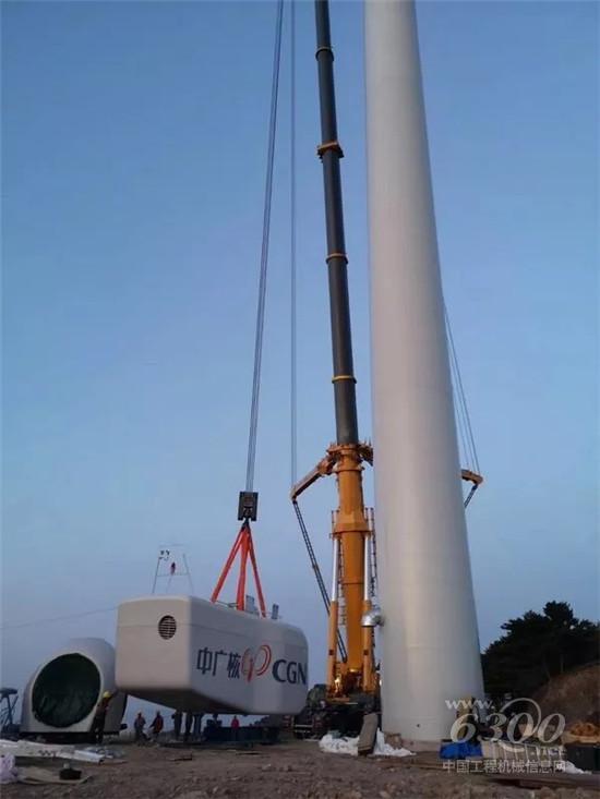 中国风电吊装千吨级阵营再添劲旅